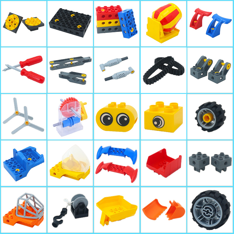LEGOs Duplos Parts Building Blocks DIY Technology Engineering Assembly Accessories Large Bricks Classic Piece Education Toy Kids