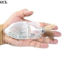 Пустая рыболовная приманка Glide 15 см металлическая соединенная Неокрашенная плавающая приманка Bluegill поплавковая раковина искусственная приманка для пресноводных рыб
