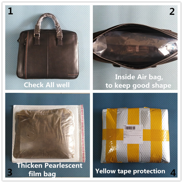 New Natural Cowskin 100 Genuine Leather Men s Briefcase Fashion Large Capacity Business bag Black Male Shoulder Laptop Bag