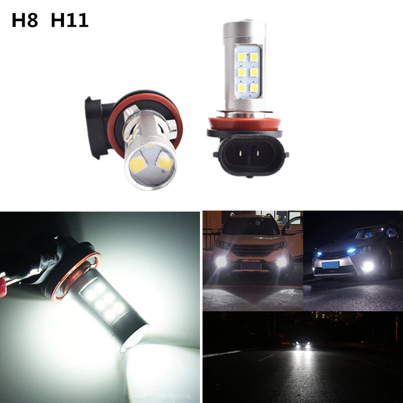 2x <font><b>H8</b></font> H11 Error Freee 2835 <font><b>Cree</b></font> Chips <font><b>LED</b></font> Fog Light DRL Bulb For Mitsubishi Lancer 2010-2014 Mitsubishi Asx image