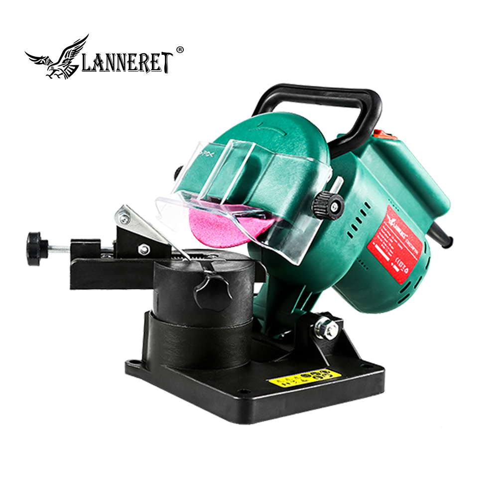 "LANNERET Chain Saw Sharpener 220W 100mm 4"" Inches Power Grinder Machine Garden Tools Portable Electric Chainsaw Sharpener"