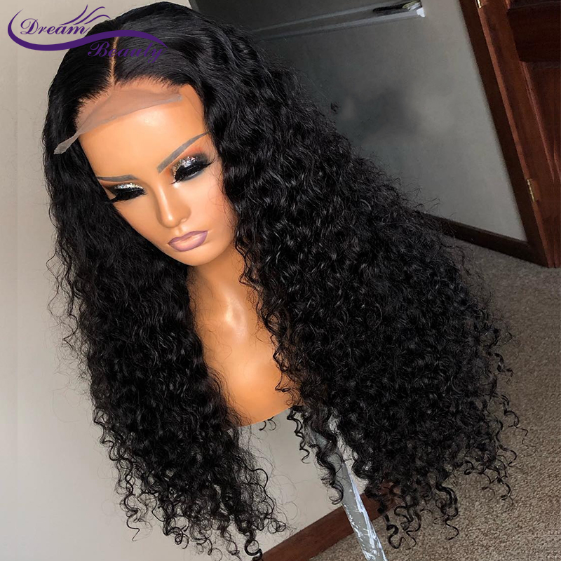 Curly 13X6 Lace Front Human Hair Wigs With Baby Hair Brazilian Remy Hair Curly Wigs For Women Pre-Plucked Wig Dream Beauty