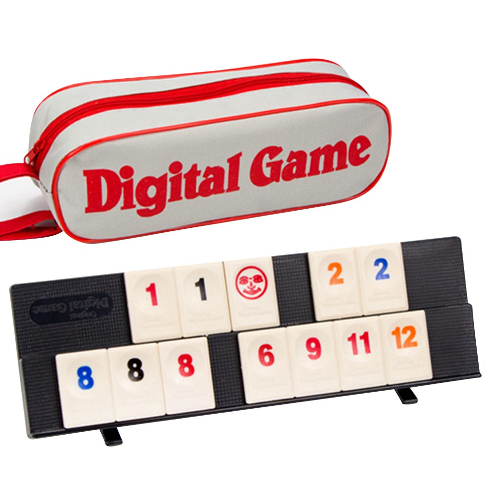 Portable Israel Mahjong Rummikub 106pcs Tiles Digital Board Games Interactive Toy With Carrying Bag For 2-4 People Adults Kids