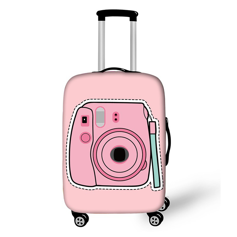 Litthing 3D Space Travel Luggage Protective Cover Suitcase Travel Accessorie Elastic Luggage Cover Apply To 18-32inch Suitcase