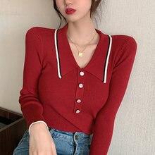 Зимняя одежда shintimes Повседневный свитер с отложным воротником