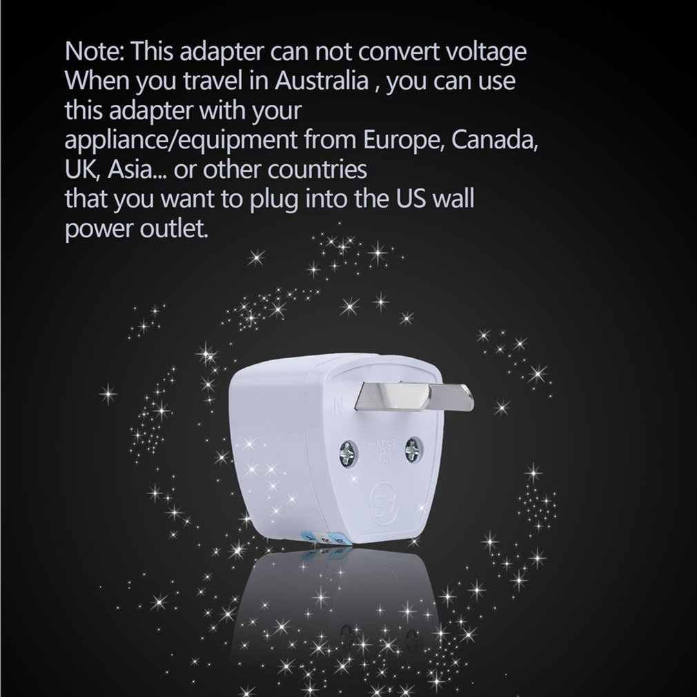 Uniwersalny US ue AU konwerter UK do wielkiej brytanii, usa, AU ue AC wtyczka zasilania ładowarka Adapter złącze UK wtyczka gniazda trzema kołkami konwersji