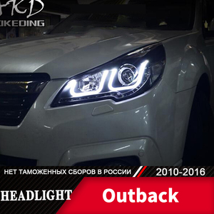 Head Lamp For Car Subaru Legacy 2010-2016 Outback Headlights Fog Lights Day Running Light DRL H7 LED Bi Xenon Bulb Car Accessory