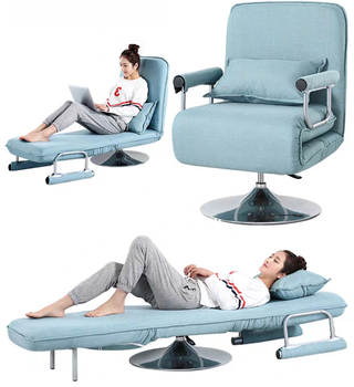 Multi function office chair lounge chair folding lunch break sofa chair home reclining chair simple single sofa bed L190*W68cm