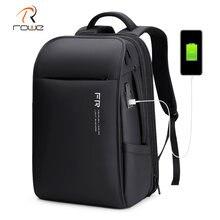 Рюкзак rowe мужской с usb зарядкой модный ранец для ноутбука