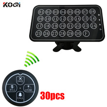433MHz wireless calling system with long distance 30 call bells+1 display pager receiver call pager system restaurant pager system for restaurant waiter calling system wireless voice call pager 1 receiver host display 8 call button transmitter