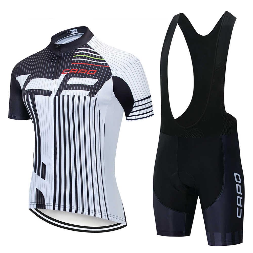 קאפו פרו צוות AERO רכיבה על אופניים ומכנסיים קצרים למירוץ משפט איטליה מיטי ג 'רזי בד למעלה איכות סינר סט עבור נסיעות ארוכות