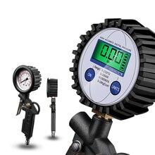 Digitale Auto Reifen Reifen Luftdruck Dial Manometer Inflator Gauge Display Led-hintergrundbeleuchtung Fahrzeug Tester Inflation Überwachung Meter