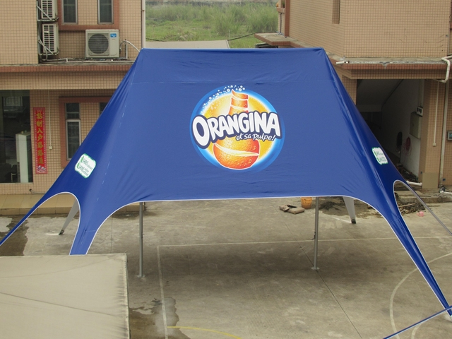 10m x 14m Double Peak Star Tent with Digital Logo Printing on Cover Top for Event Advertisement Exhibition Display Event Show