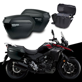 for SUZUKI V-STORM DL250 DL 250 SHAD SH23 Side Boxs+Rack Support System Motorcycle Luggage Case Saddle Bags Bracket Carrier