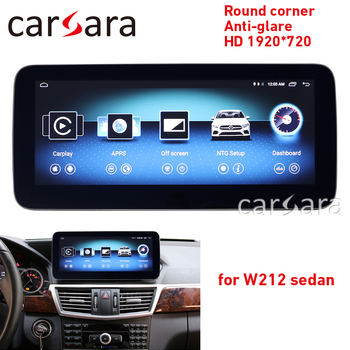 W212 touch screen round corner HD 1920 anti-glare head unit radio 10-15 E250 E300 10.25 GPS Navigation multimedia player image