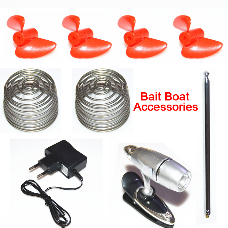 Origial Fishing Bait Boat Spare Parts Remote Control Antenna EU Plug Adapter Replacement Float Tube Propellers Protect Spring