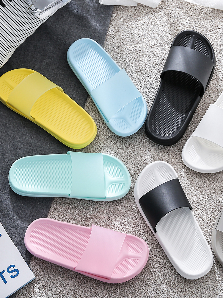 Summer Slides Cartoon <font><b>Women</b></font> Slippers Non-slip Candy Color Soft Sole Indoor Hotel <font><b>Eva</b></font> Slide Sandals <font><b>Women</b></font> <font><b>Shoes</b></font> Bothe Flip Flops image