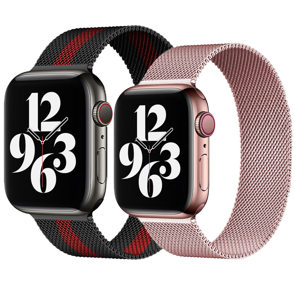 Paslanmaz çelik kayış apple saat bandı 44mm 40mm 38mm 42mm milanese döngü kemer bilezik coorea iwatch band serisi 6 se 5 4 3