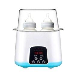 Грелка для детских бутылочек, паровой стерилизатор для бутылочек 5 в 1, умный термостат, двойная бутылка, подогреватель для детского питания ...