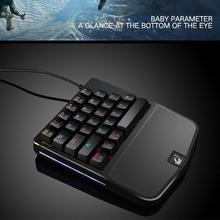 Thunder One-Handed Mechanical Gaming Keyboard RGB Backlit Portable Mini Gaming Keypad Game Controller for PC PS4 Xbox Gamer