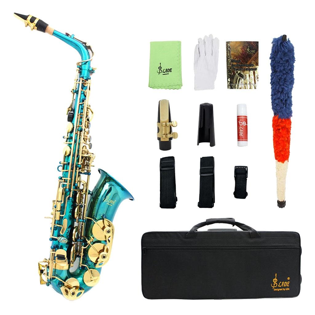 Exquisite Messing Eb Alto Saxophon Sax mit Lagerung Fall Mundstück Straps Handschuhe Reinigung Tuch