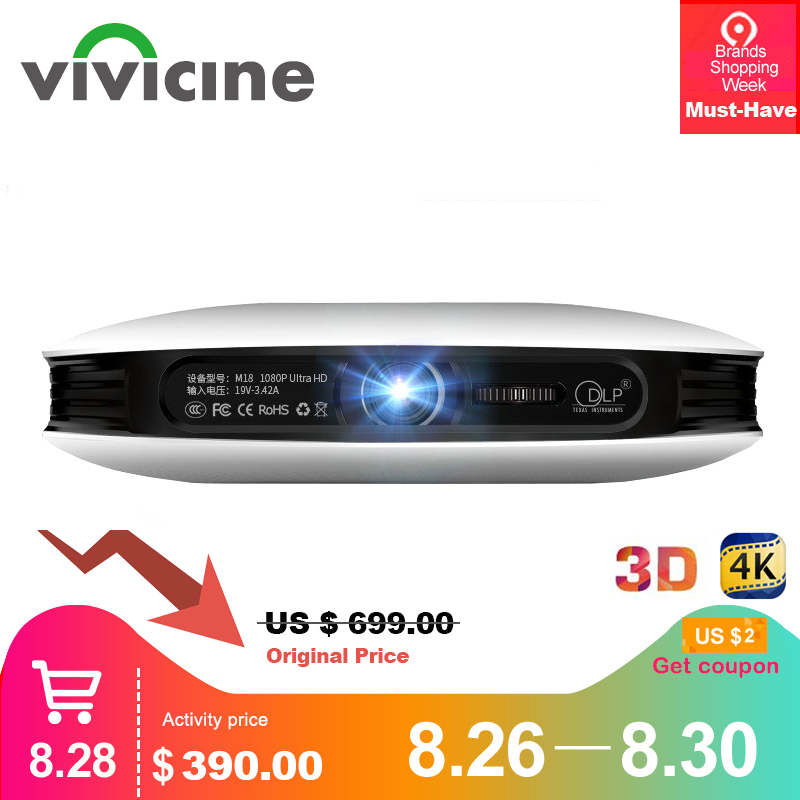 Vivicine 1080p 3D 4K Projector,Android WIFI HDMI USB Full HD Mini PC Game Home Theater Cinema Proyector 12000 mAh Battery Beamer old school motorcycle gauges