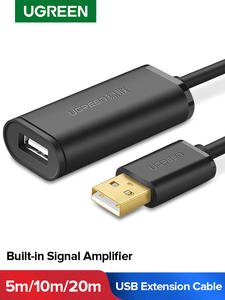 Ugreen Usb-Extension-Cable Extender-Cord Signal-Amplifier USB3.0 Male-To-Female 20m/30m