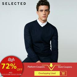 SELECTED 100% Wool Sweater Italian Merino V Collar Knit Clothes Men's Lightweight Knitwear Pullovers S | 418424501 1