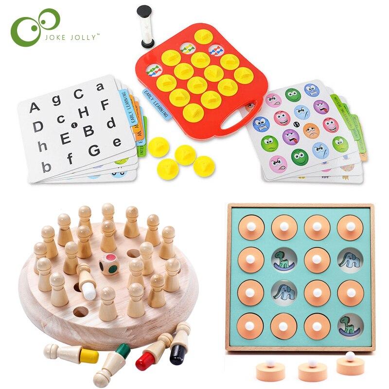 Enfants jeu de fête en bois mémoire Match bâton jeu d'échecs amusant bloc jeu de société éducatif couleur capacité Cognitive enfants jouets ZXH