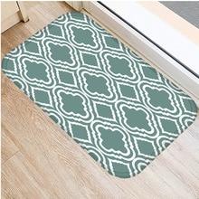 40*60 ซม.สีเขียวลายพรมปูพื้นNon Slip Suedeพรมประตูห้องครัวห้องนั่งเล่นชั้นบ้านห้องนอนตกแต่งพื้น
