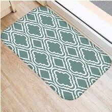 40*60cm Grün Gestreiften Boden Matte Non slip Wildleder Teppich Tür Matte Küche Wohnzimmer Boden Matte hause Schlafzimmer Dekorative Boden Matte