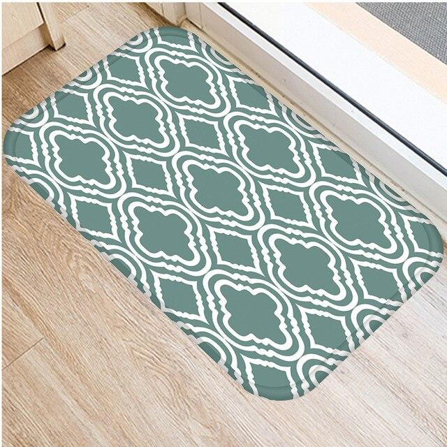 40*60cm ירוק פסים רצפת מחצלת החלקה זמש שטיח מחצלת דלת מטבח סלון רצפת מחצלת בית חדר שינה דקורטיבי רצפת מחצלת