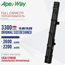 ApexWay Batería de portátil de 14,8 V para Asus A41N1308 A31N1319 X451C X451M X551C X551CA X551M A31LJ91 X451CA X451 X551 0B110 00250100