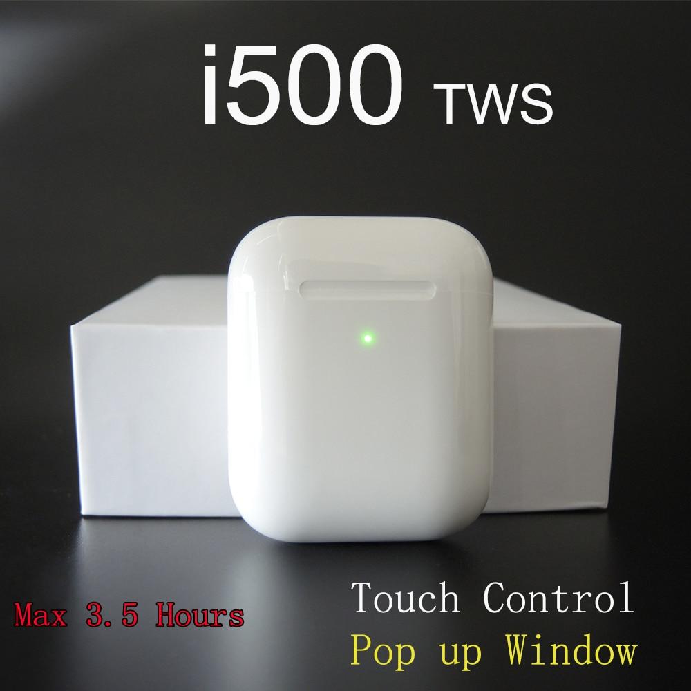 Écouteurs Bluetooth d'origine i500 TWS 2 générations 1:1 écouteurs sans fil 5D Super basses i500 tws pk i20 i60 i80 i100 i200