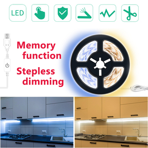LEADLY USB LED Strip Lights Dimmable LED Light Strip 2835 LED Tape Lights Memory LED Strip Lights With Touch For Home Lighting