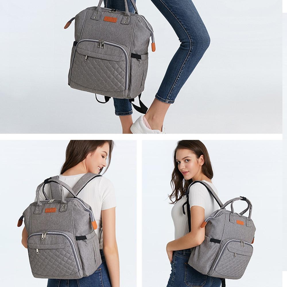 Waterproof Women Backpack Baby Diaper Bag Travel Infant Diaper Bag Nappy Bag Baby Care Large Capacity Travel Maternity Bags