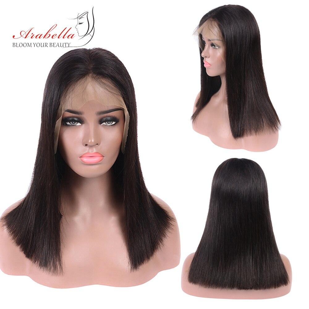 Double Drawn 13*6 Bob Lace Front Wigs PrePlucked Bleached Knots 100% Human Hair Wigs Arabella Vrigin Hair 13x4 Short Bob Wig