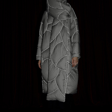 Original Design New 2019 Winter Women Puffer Coat Reflective Texture Thicken Warm Casual Oversized Hooded White Duck Down Jacket