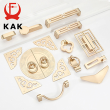 KAK Gold Cabinet Knobs and Handles Luxury Gold Kitchen Cupboard Door Pulls European Drawer Furniture Handle Hardware
