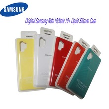 Original Samsung Note 10 Plus Case Original  Liquid Silicone