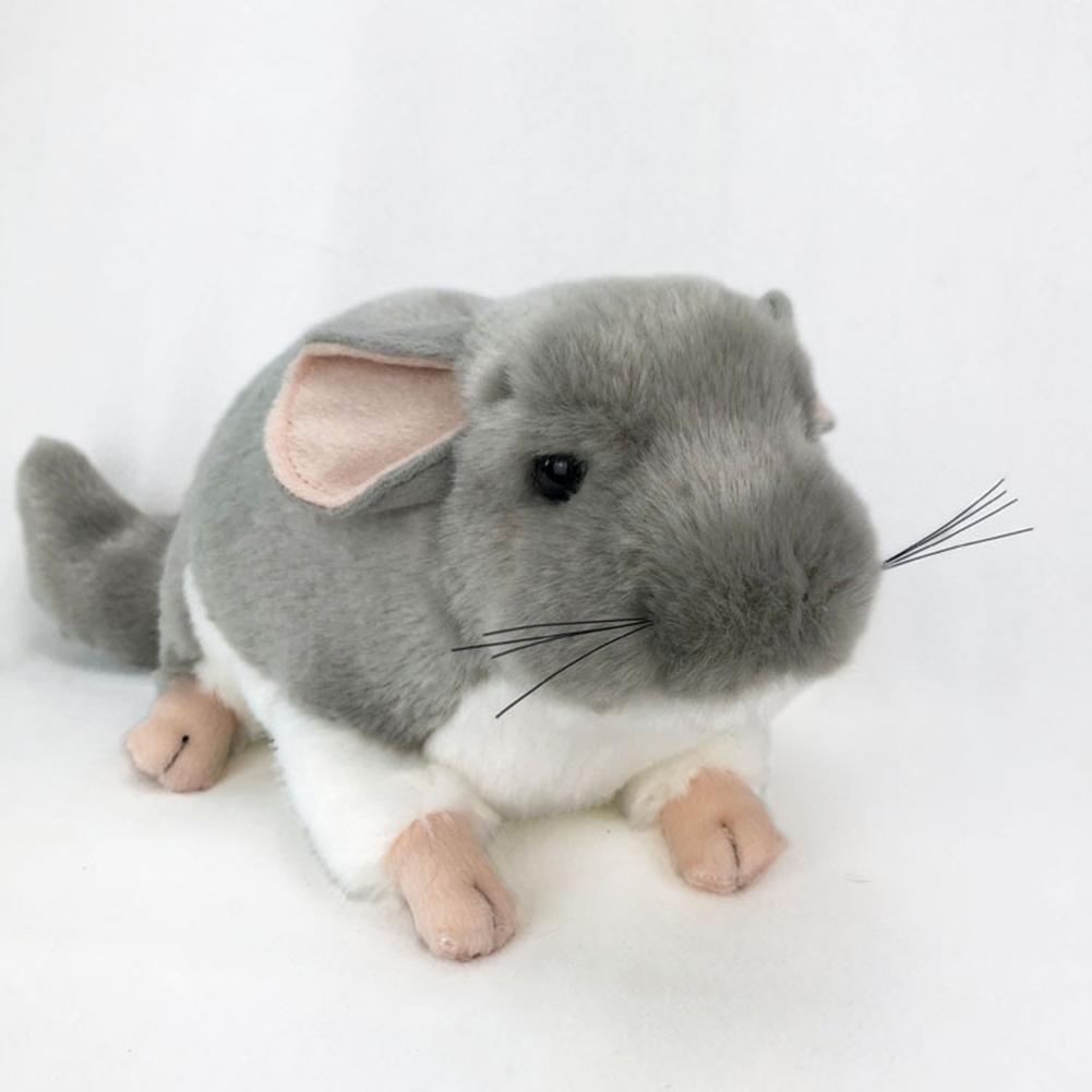Realistic Chinchilla Mouse Animal Plush Stuffed Doll Kids Toy Home Desktop Decor Realistic Chinchilla Design Wonderful Gifts Toy