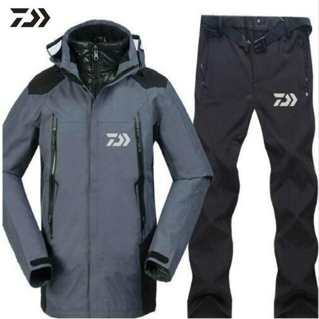 2020 marque Daiwa pêche vêtements ensembles hommes respirant tenue de sport ensemble randonnée coupe-vent Dawa nouveaux vêtements pêche veste et pantalon