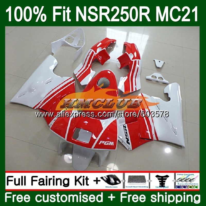 Injection For HONDA NSR250R MC21 PGM3 1990 1991 1992 1993 101CL.23 <font><b>NSR</b></font> <font><b>250</b></font> R NSR250 RR <font><b>NSR</b></font> 250R 90 91 92 93 Fairing Red Glossy image