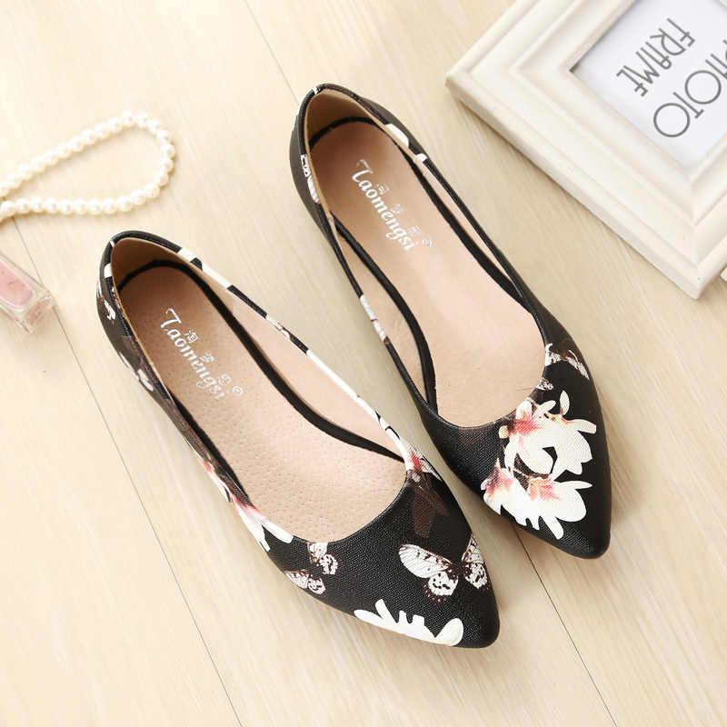 """Ballerinas Cho Nữ Giày Đế Bằng Nữ Cho Nữ Dây Leo Trượt Giày Cho Nữ Size Lớn 43 Zapatos Casuales De mujer """"Iệu"""