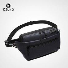 OZUKO, водонепроницаемая Мужская поясная сумка, поясная сумка, сумка на ремне, мужская сумка для телефона, сумка для путешествий, поясная сумка, маленькая спортивная сумка для бега