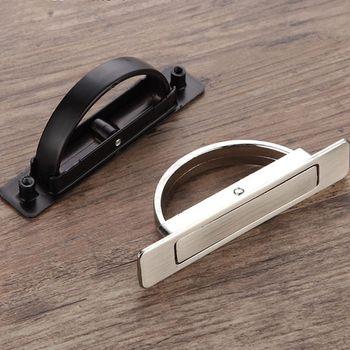 Invisible Tatami Cabinet Drawer Handle Rotating Hidden Grip Pull Handle Hardware