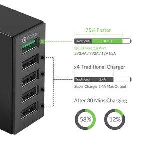 Image 2 - Chargeur de bureau intelligent ORICO 4 ports USB 40W Max QC 2.0 chargeur rapide USB chargeurs USB pour tablette de téléphone portable