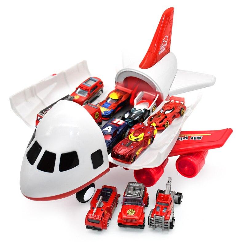 Детский игрушечный самолет из сплава, модель трека с инерционным механизмом, пассажирский самолет большого размера, детский самолёт, игруш...