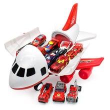 Avion de passagers de grande taille, véhicule de transport aérien, avec espace de rangement pour les jouets, voiture, camions, véhicules en alliage, idéal pour jeu de simulation,