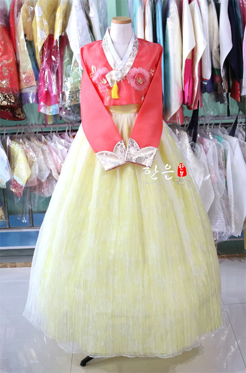 Korea Imported Fabric / New Improved Hanbok / Bride High-end Hanbok